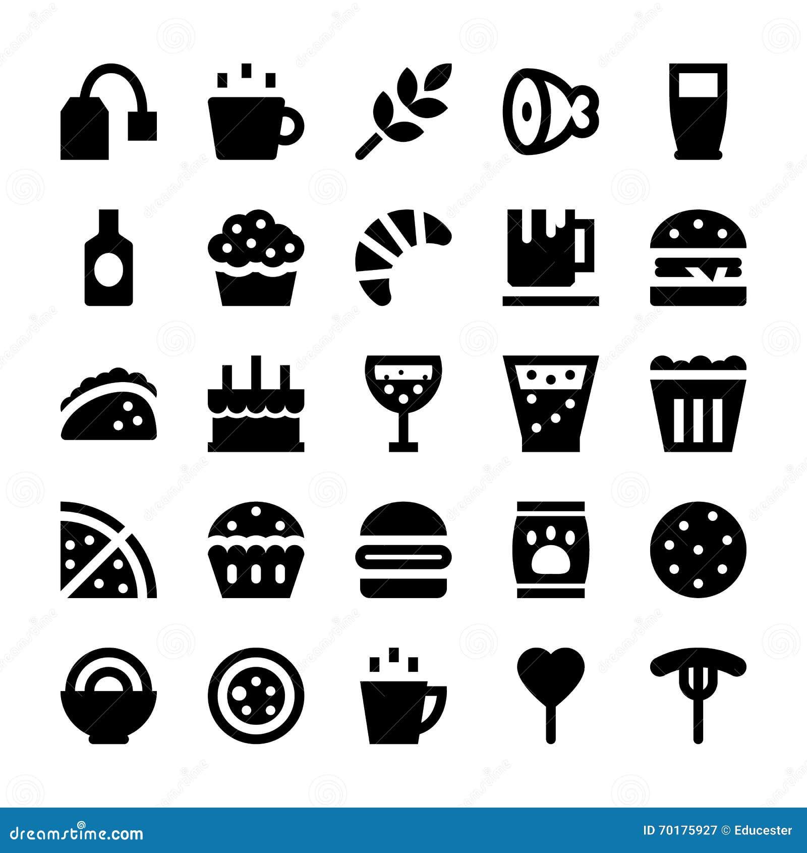 Mat- och drinkvektorsymboler 4