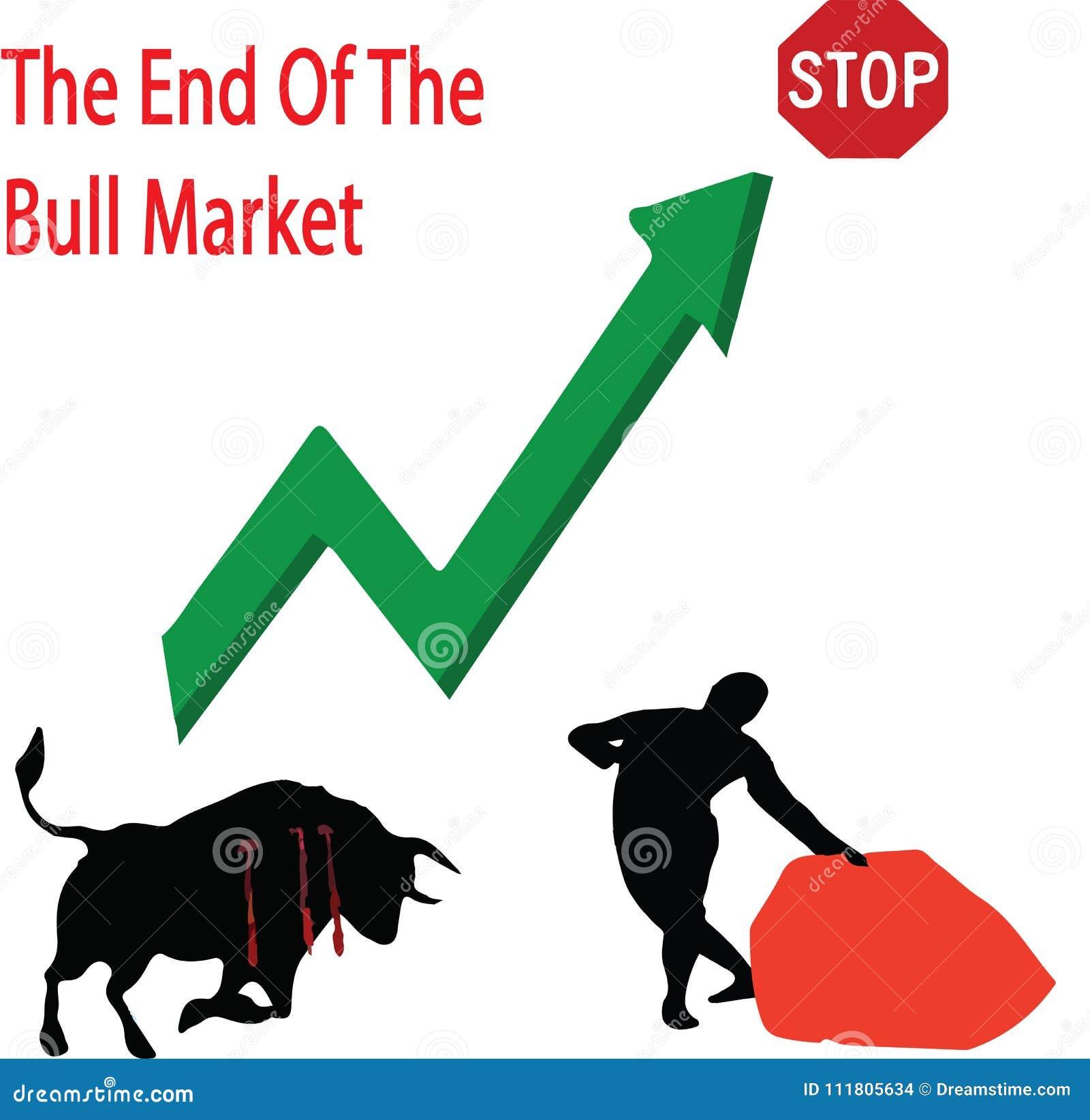 The End Of The Bull Market Stock Illustration Illustration Of Bull