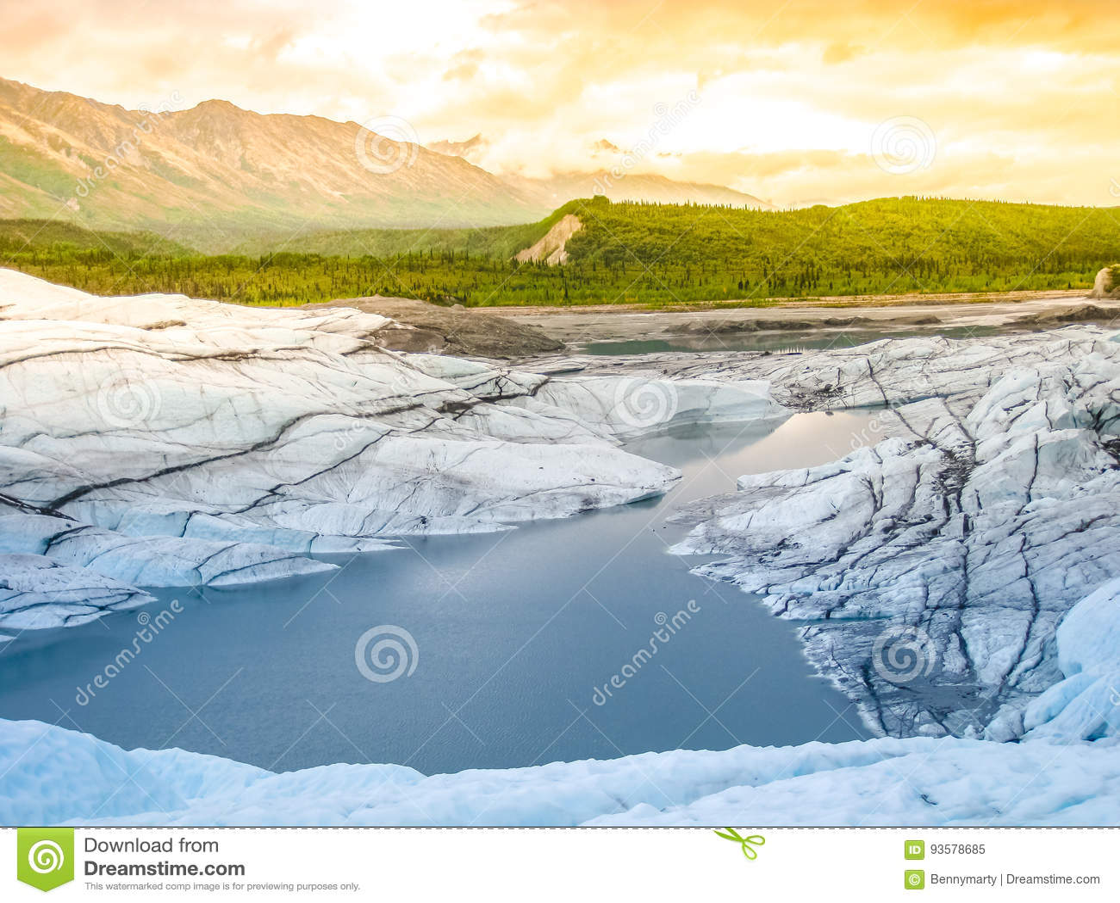 Matanuska Glacier melting