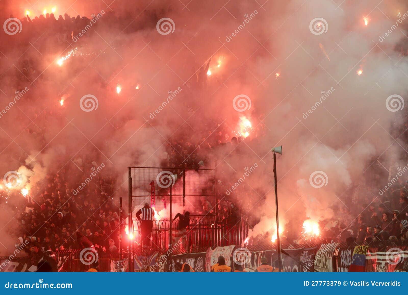 Match de football entre Paok et Olympiacos