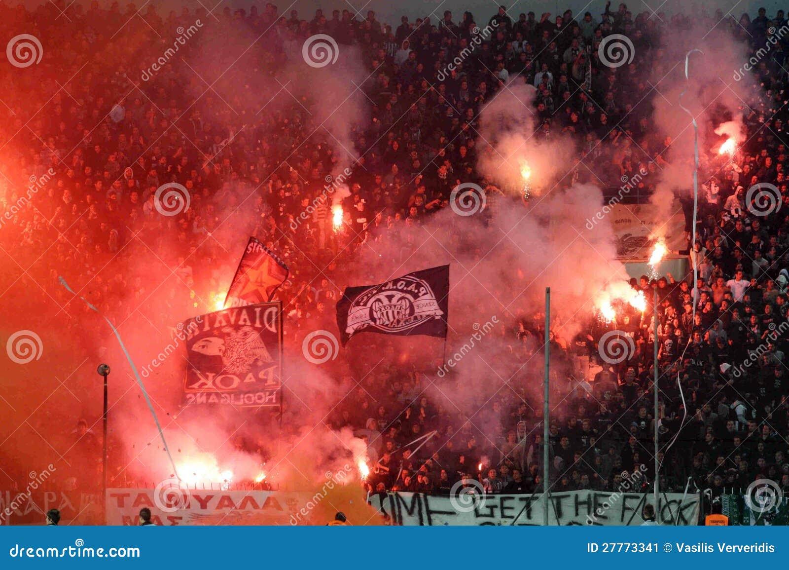 Match de football entre Paok et Panathnaikos
