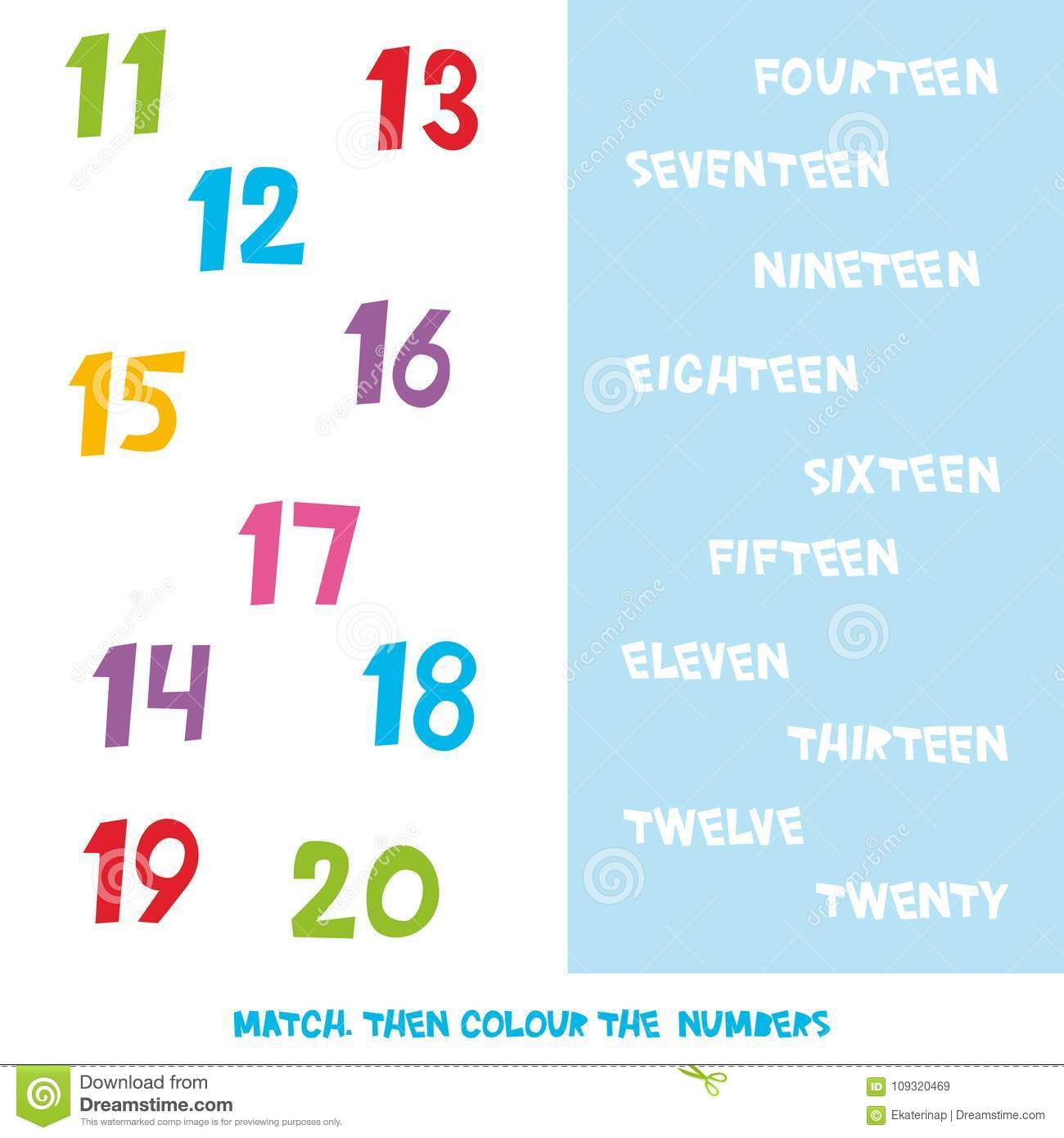 Match then colour the numbers 11 to 20 kids words learning game download match then colour the numbers 11 to 20 kids words learning game worksheets ibookread Read Online