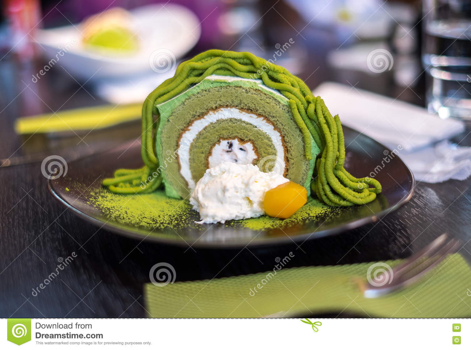 Matcha绿茶卷蛋糕蛋糕