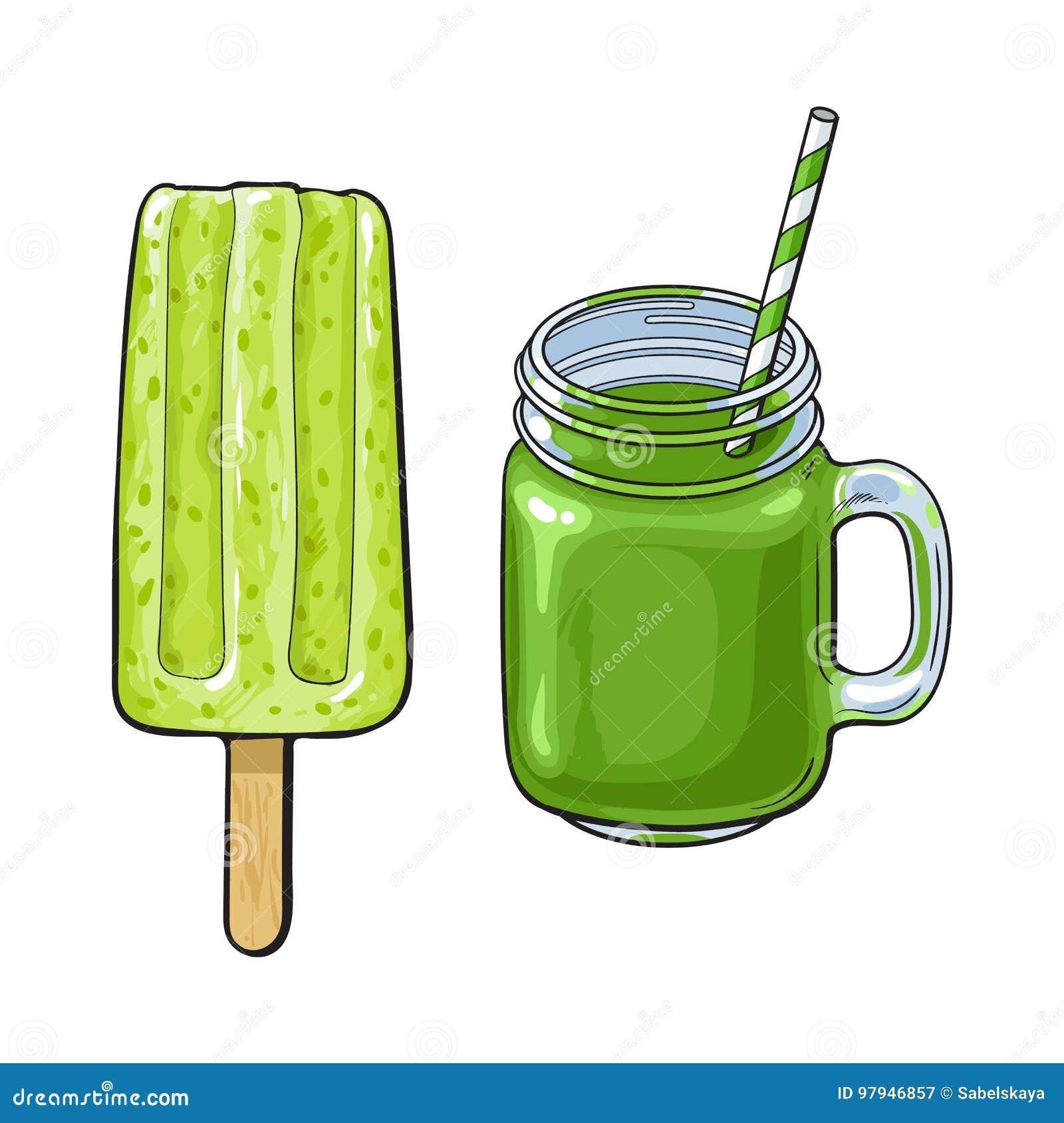 Matcha绿茶点心-圆滑的人和冰棍儿