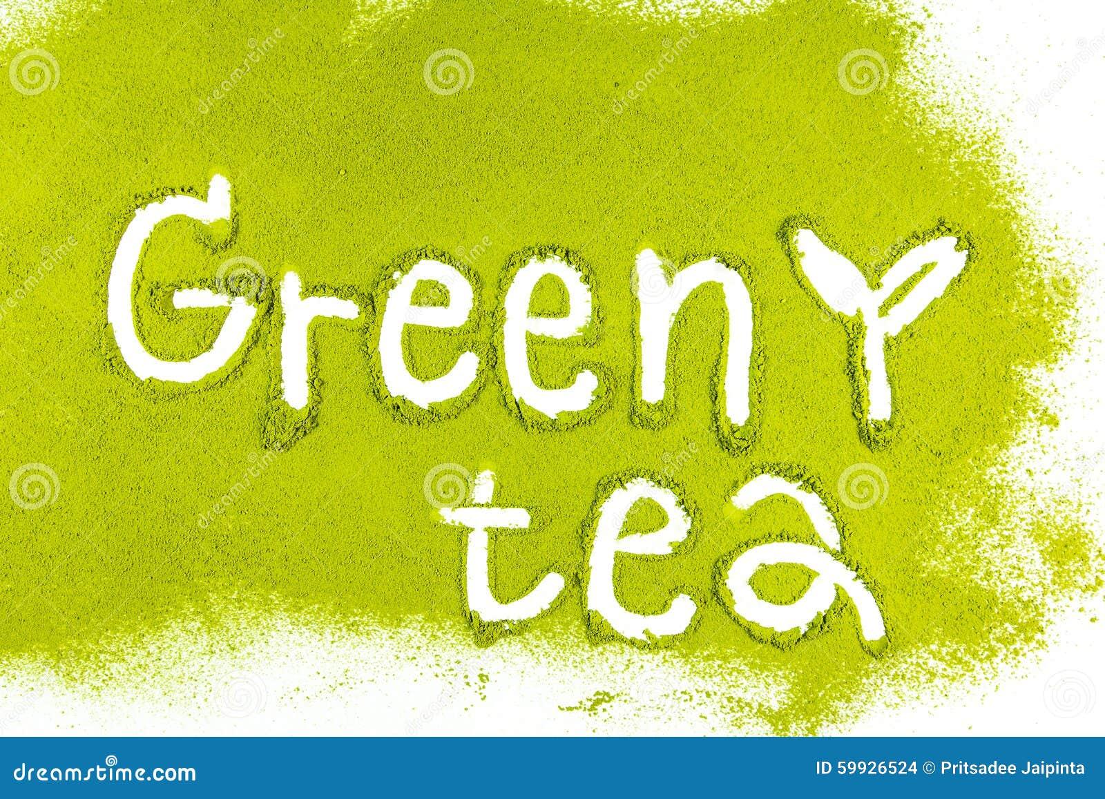 Matcha del té verde con a