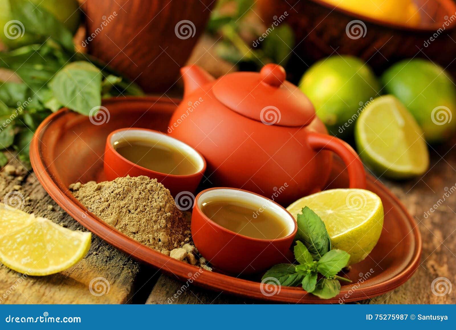 Matcha grönt te, limefrukt och mintkaramell