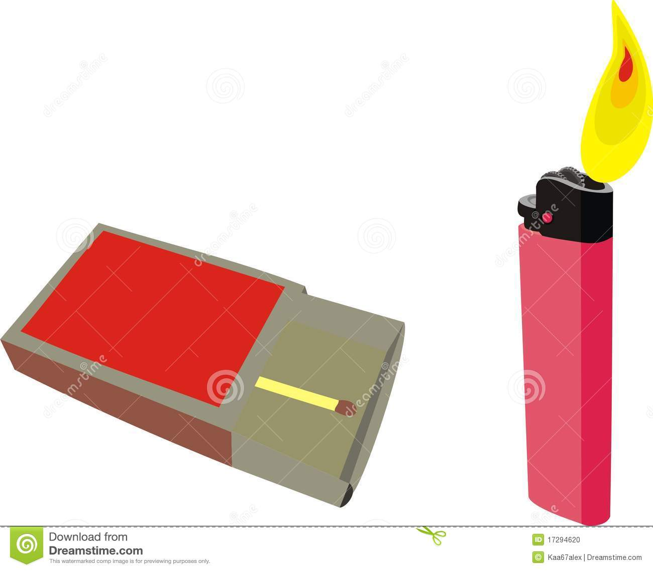 Matches and a lighter stock vector. Illustration of matches - 17294620 for Matches Clip Art  155fiz