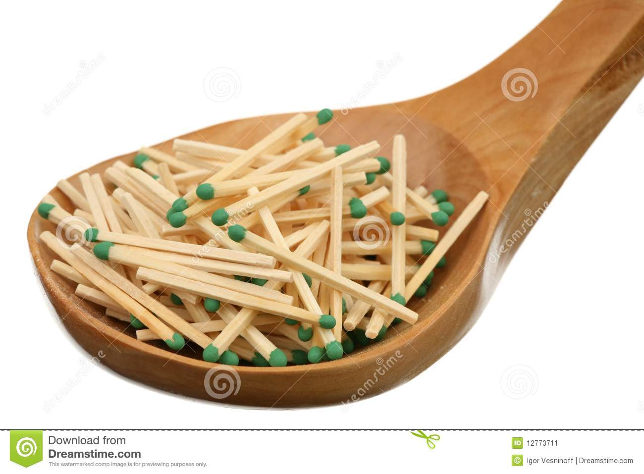 More similar stock images of matches in a wooden spoon
