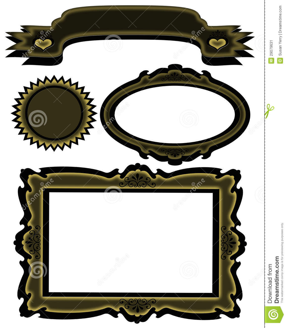 black and gold frame png. Exellent Png Matching Banner Frame Starburst Set To Black And Gold Png C