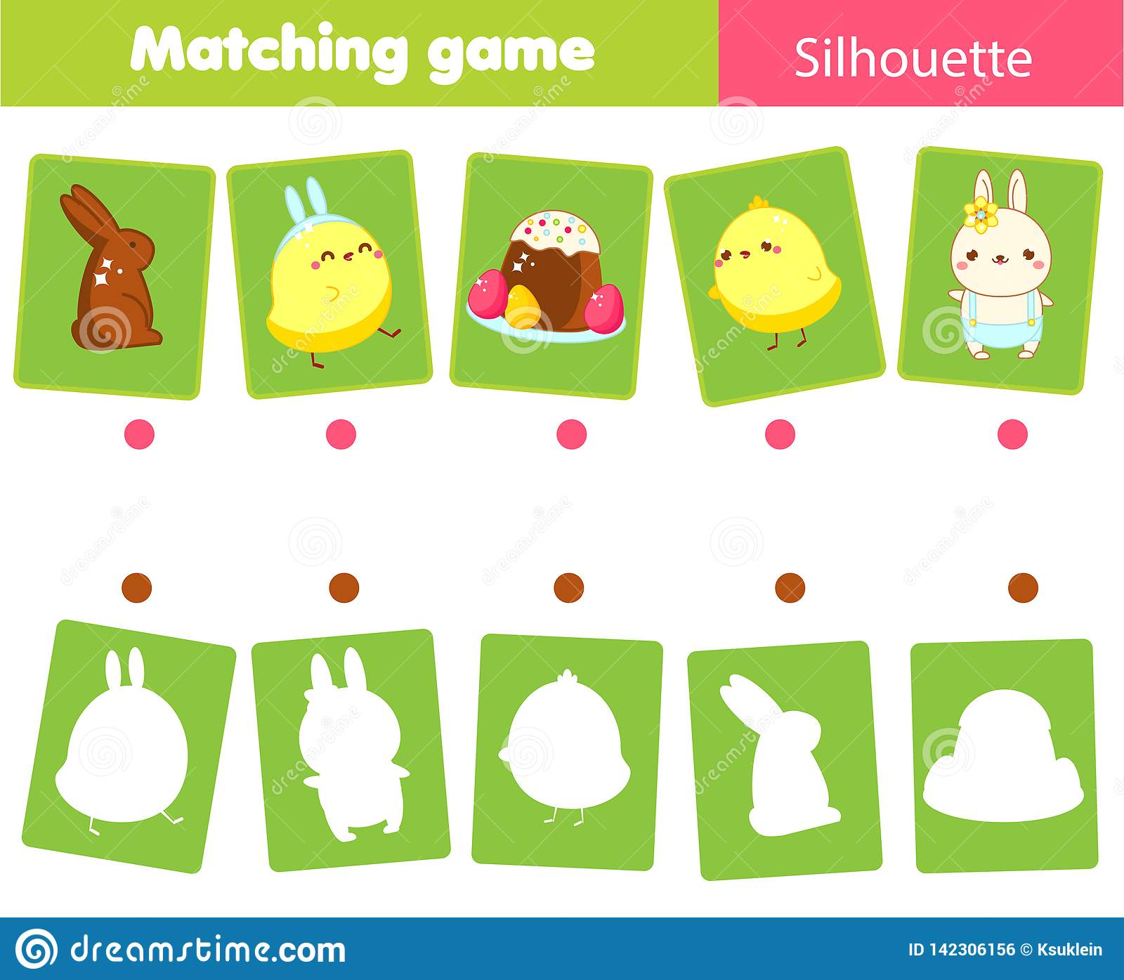 Matching Game  Match Easter Objects With Silhouette