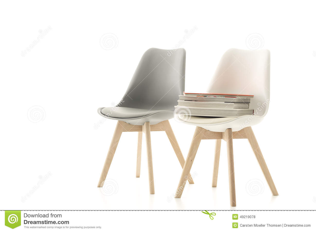 a matching grey and white modern chair stock photo image. Black Bedroom Furniture Sets. Home Design Ideas