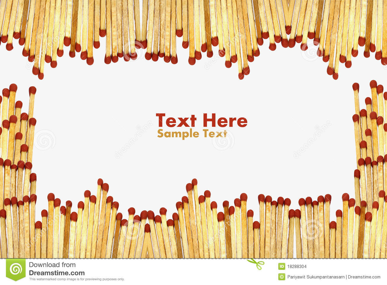 Matchs To Create A Frame On White Background Stock Photo - Image of ...