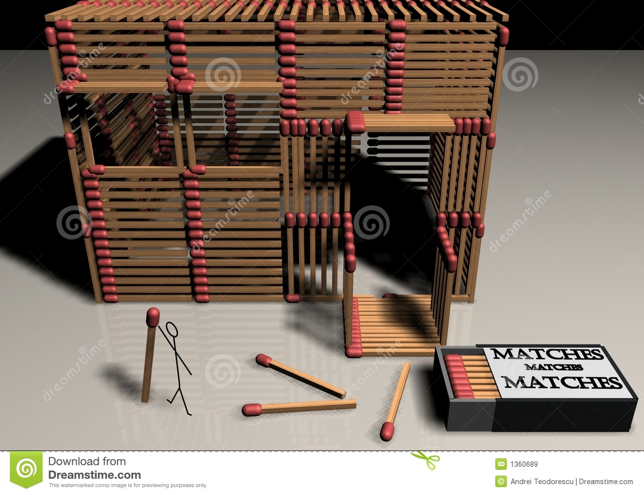 Matchstick model houses