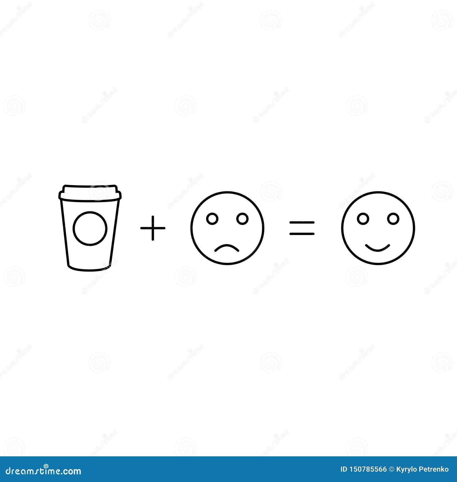 A matemática do café dará a poder o fundo branco