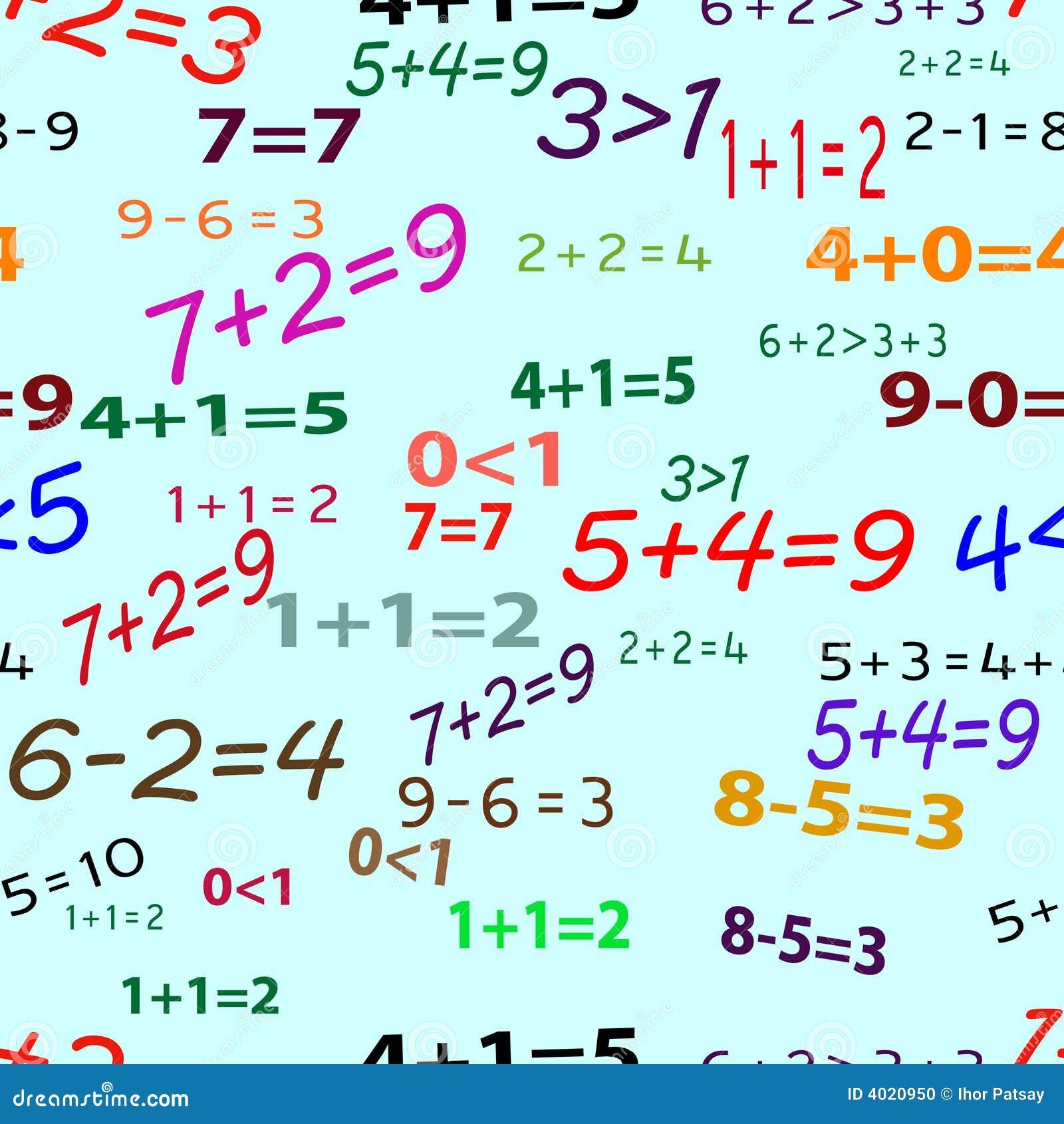 Matematica Divertente Senza Giunte Illustrazione