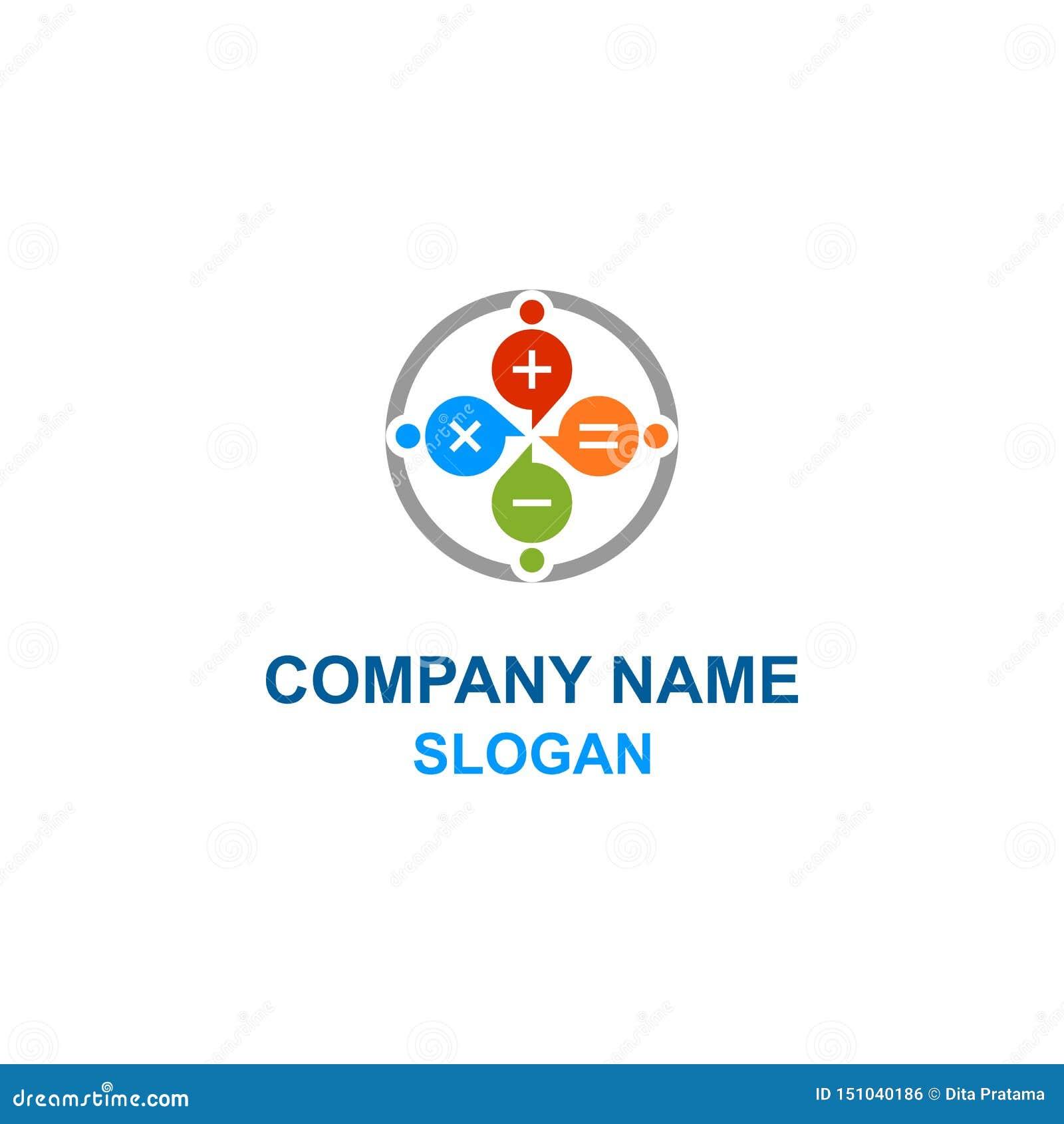 Matematyka kalkulatora rodziny logo