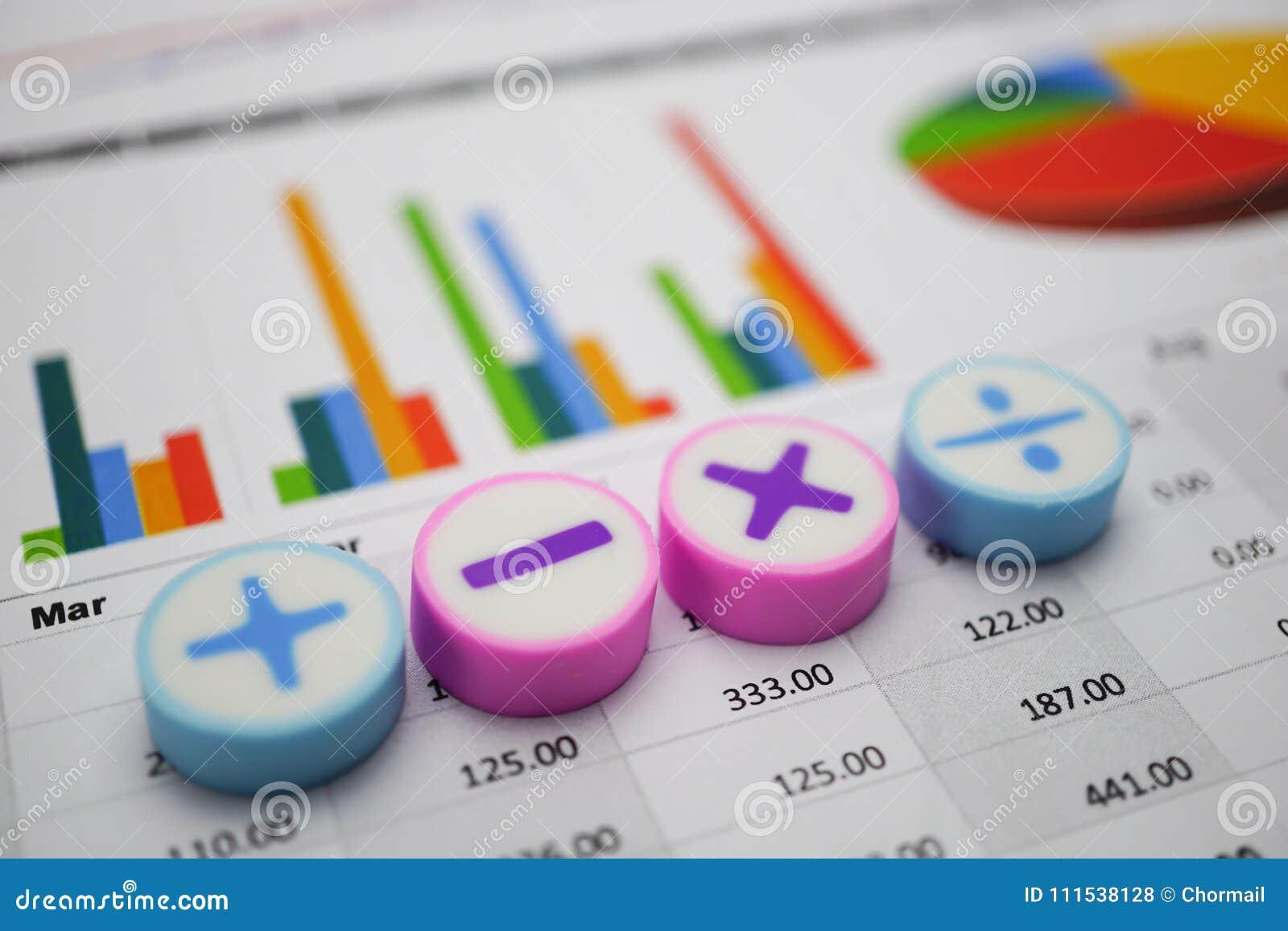 Matematyka symboli/lów map wykresów papier Pieniężny rozwój, bankowości konto, statystyki, Inwestorska Analityczna badawcza dane