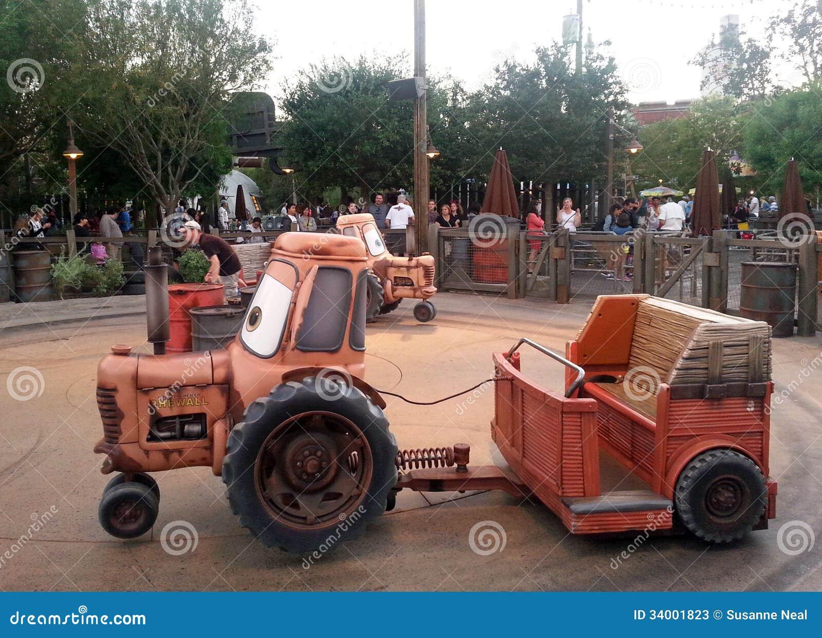 Tow Maters Junkyard Jamboree Ride At Disneys Calif Editorial Stock ...