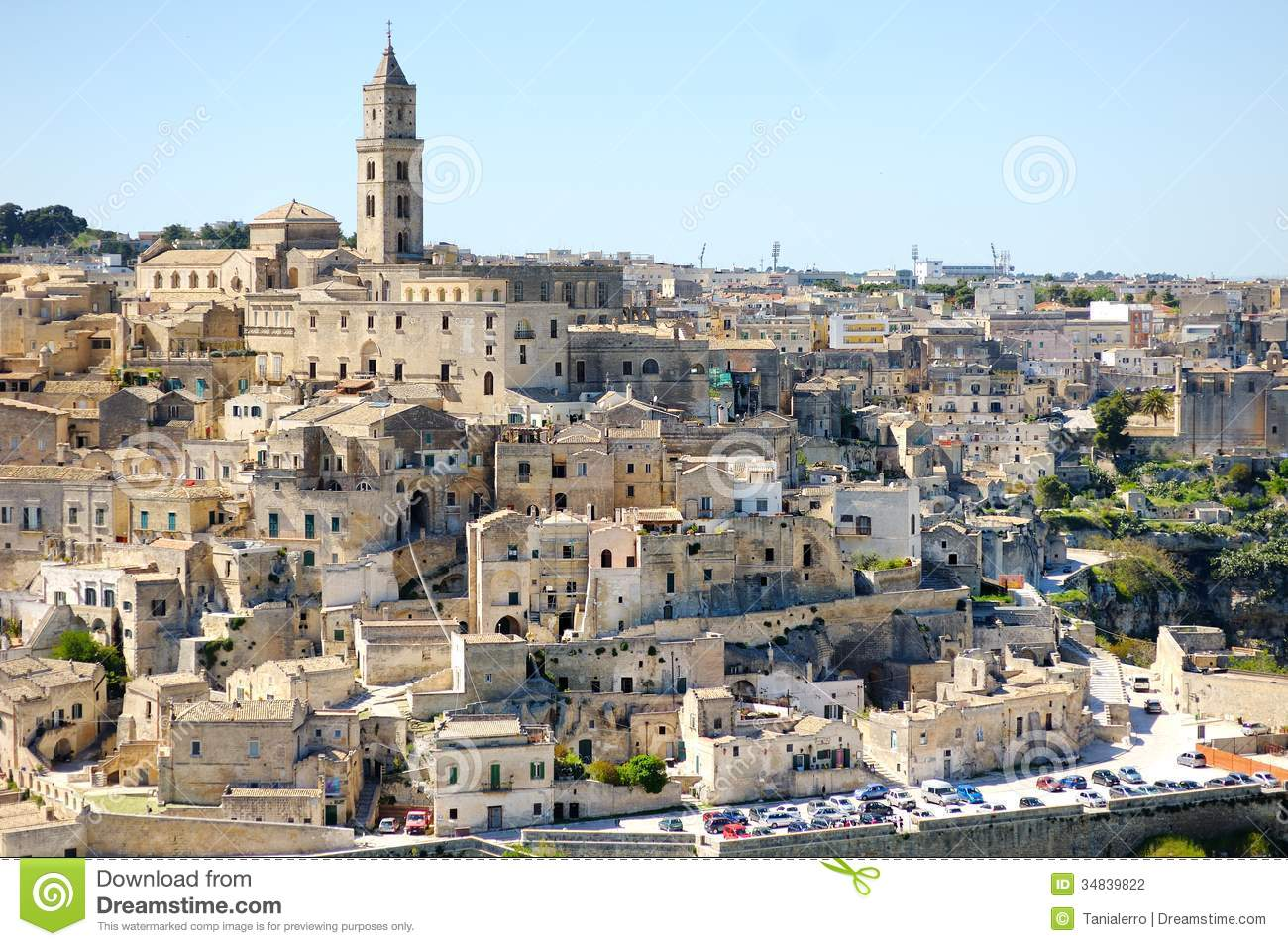 Matera Ancient City Panoramic View, Italy Stock Photography - Image ...