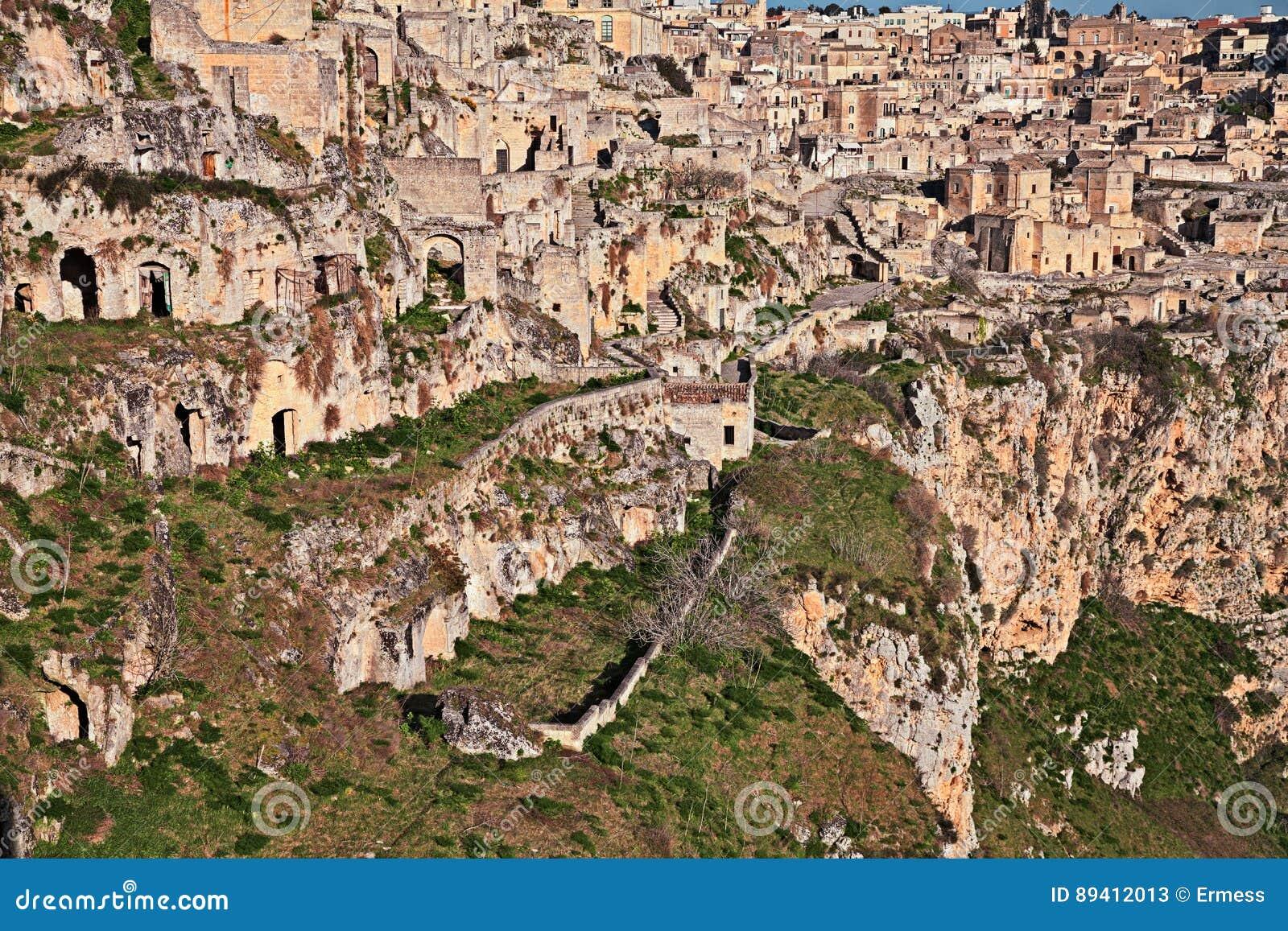 Matera, Basilicata, Itália: vista da cidade velha