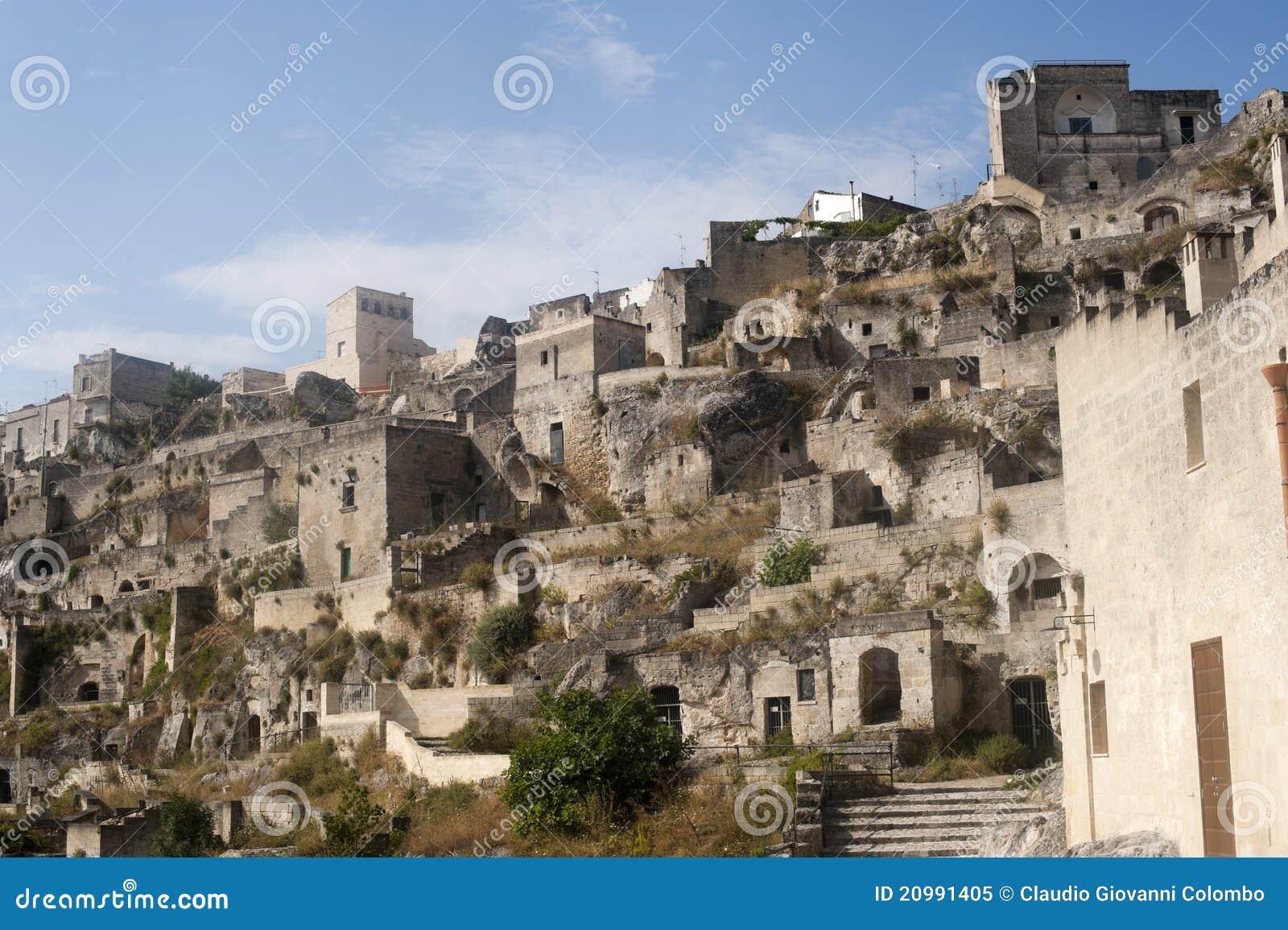 Matera (Basilicata, Italy) - The Old Town (Sassi) Royalty Free Stock ...