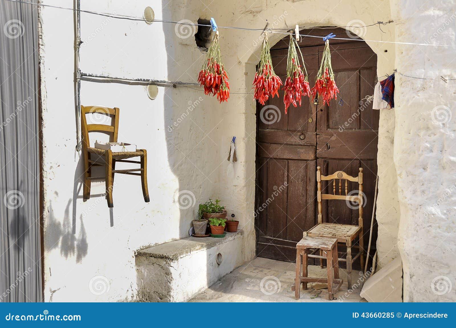Matera hus i Italien