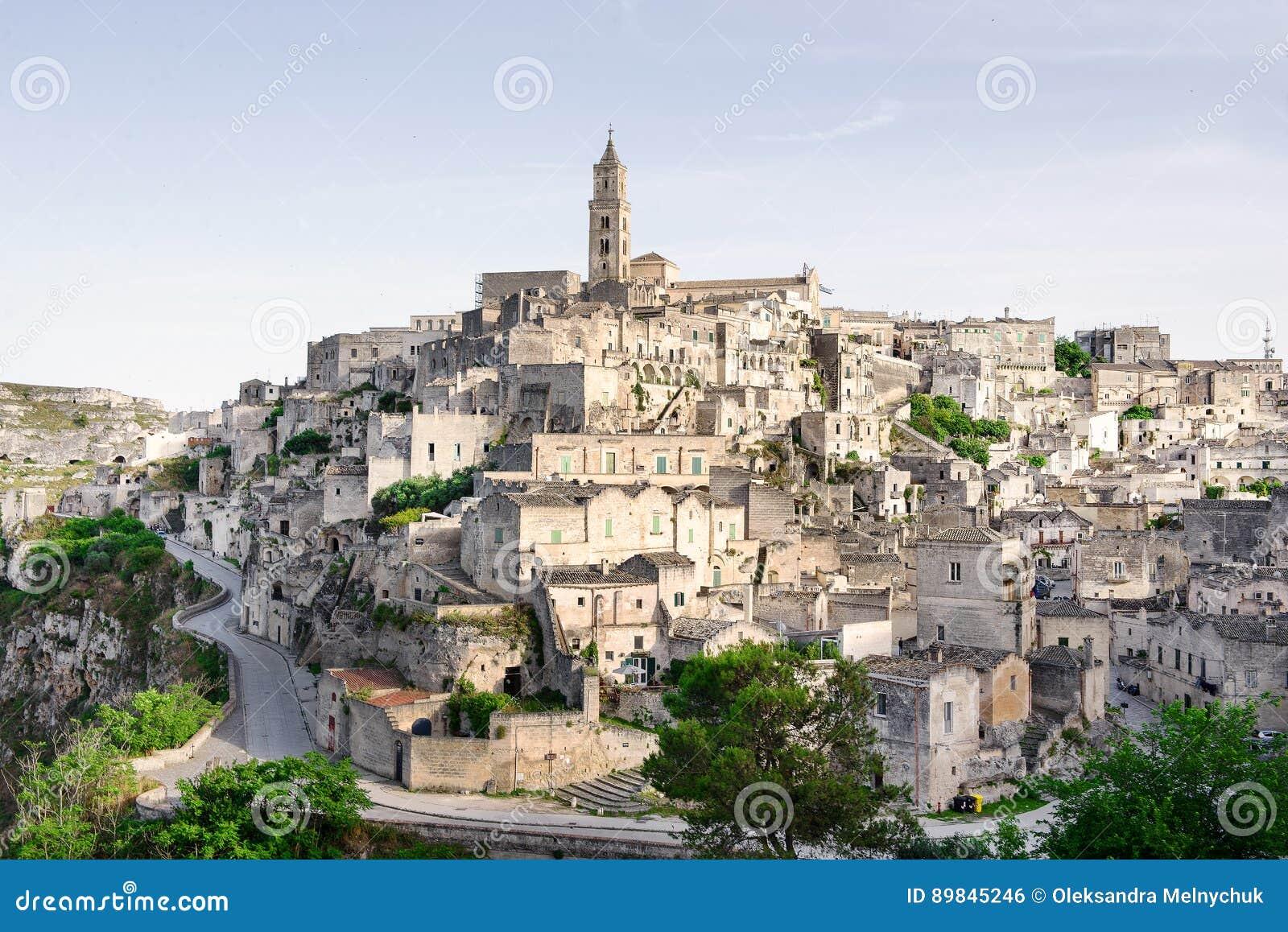 Matera medeltida stad i Italien