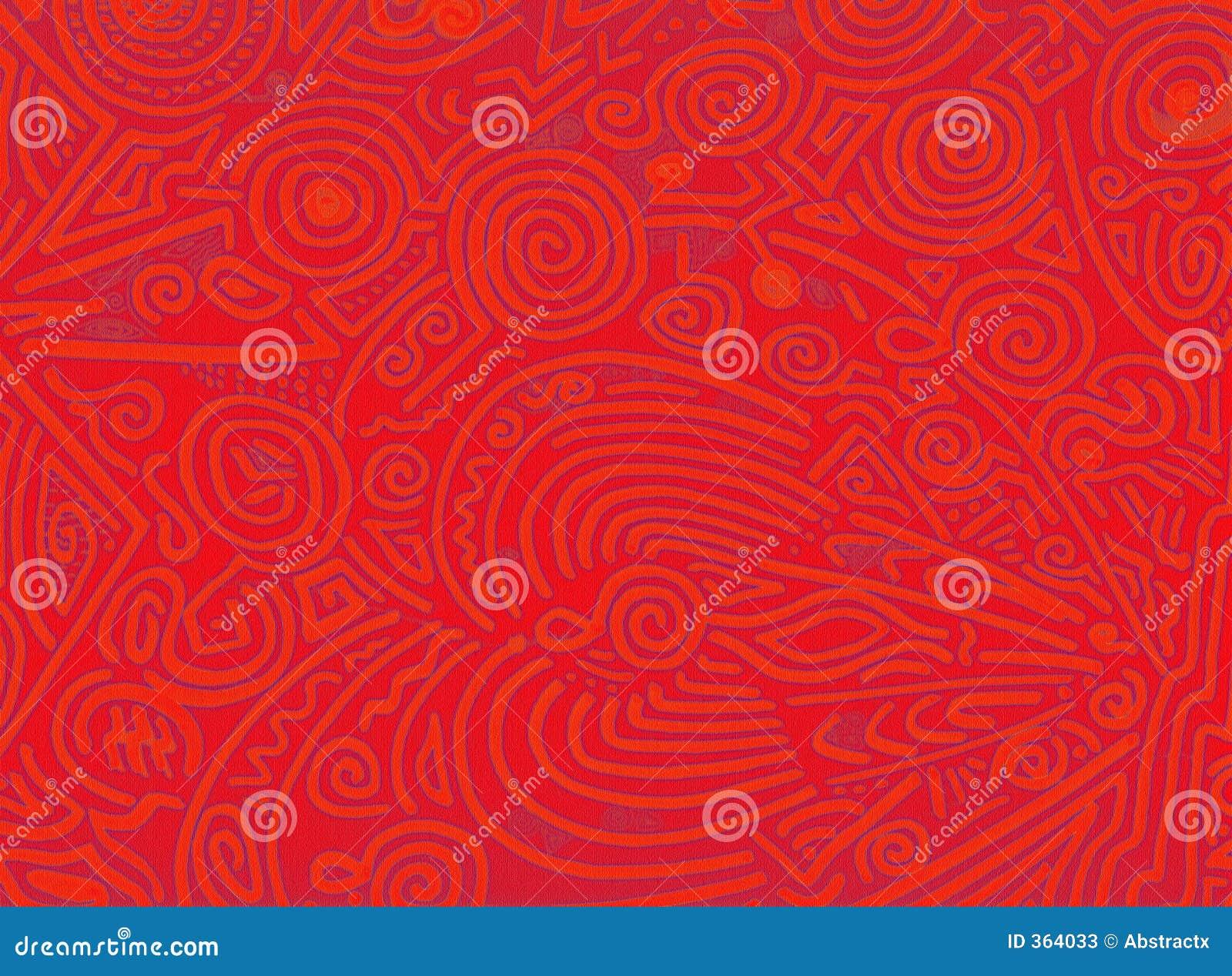 Materia orgánica abstracta del rojo anaranjado