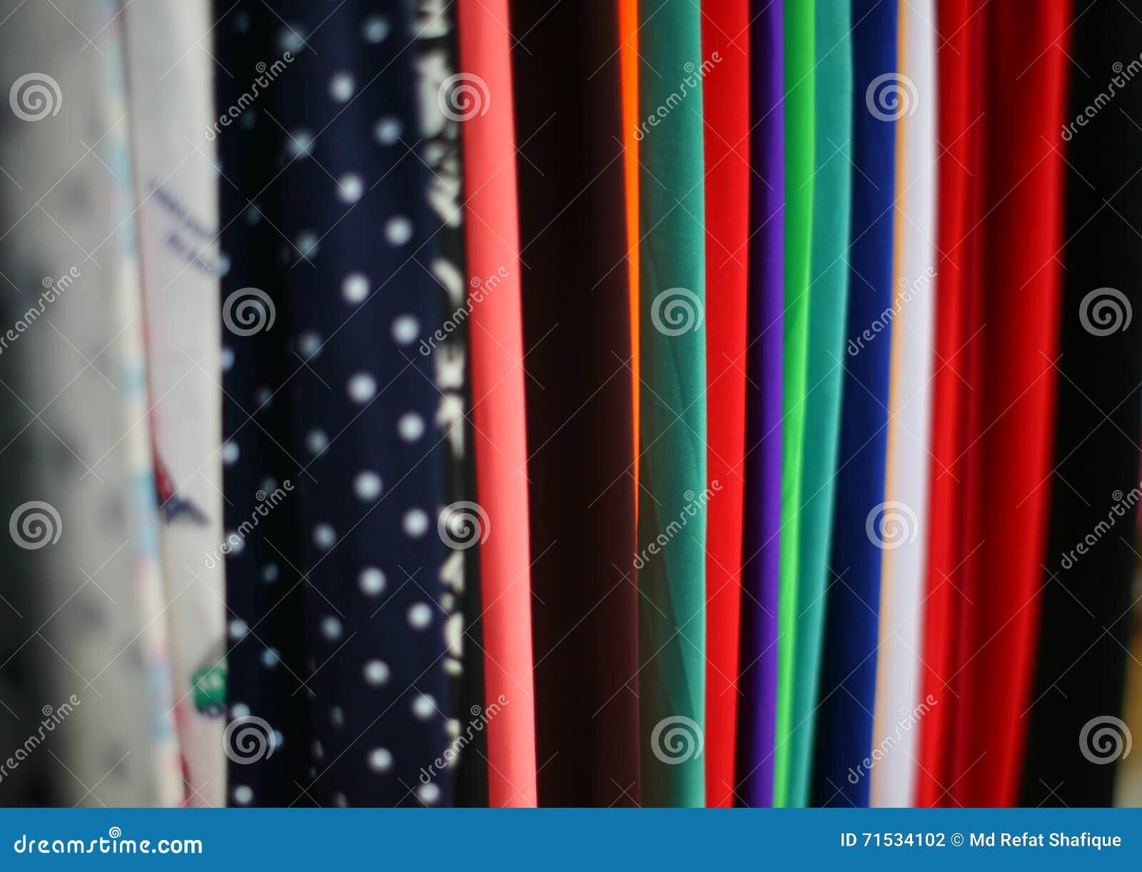 Materia textil colorida