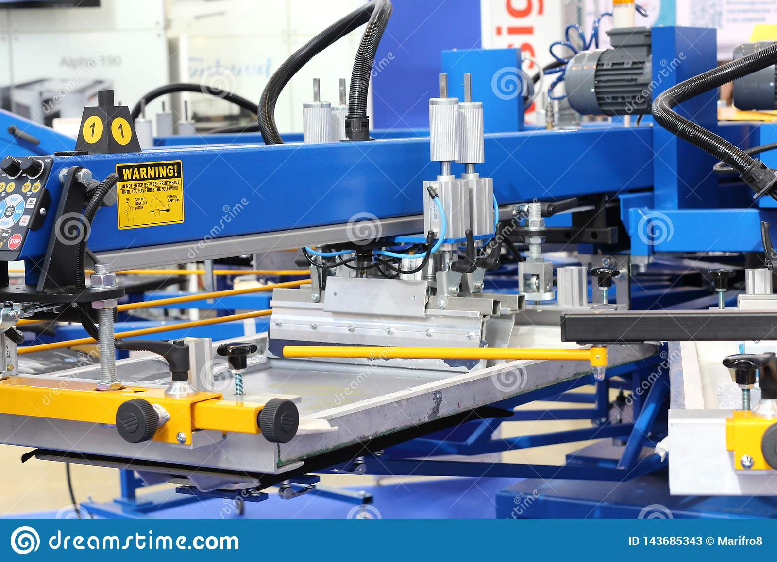 Materiaal om op textiel te drukken Automatische drukpers