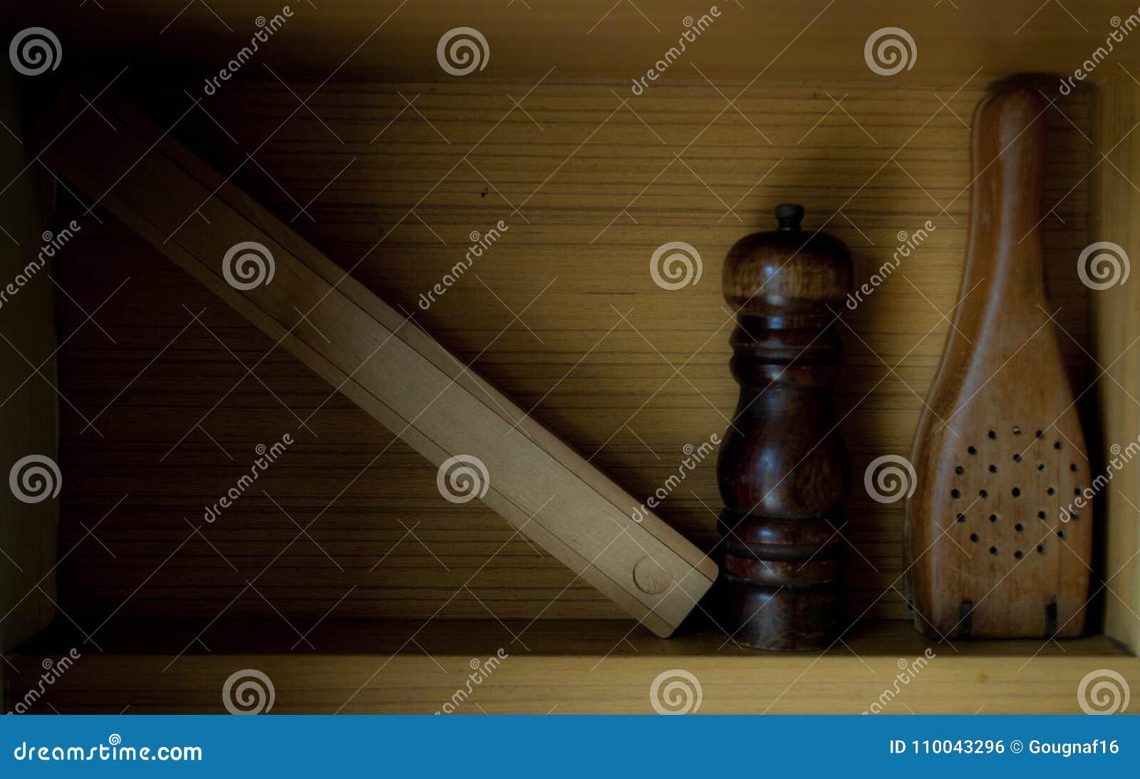 Materiais de madeira da cozinha