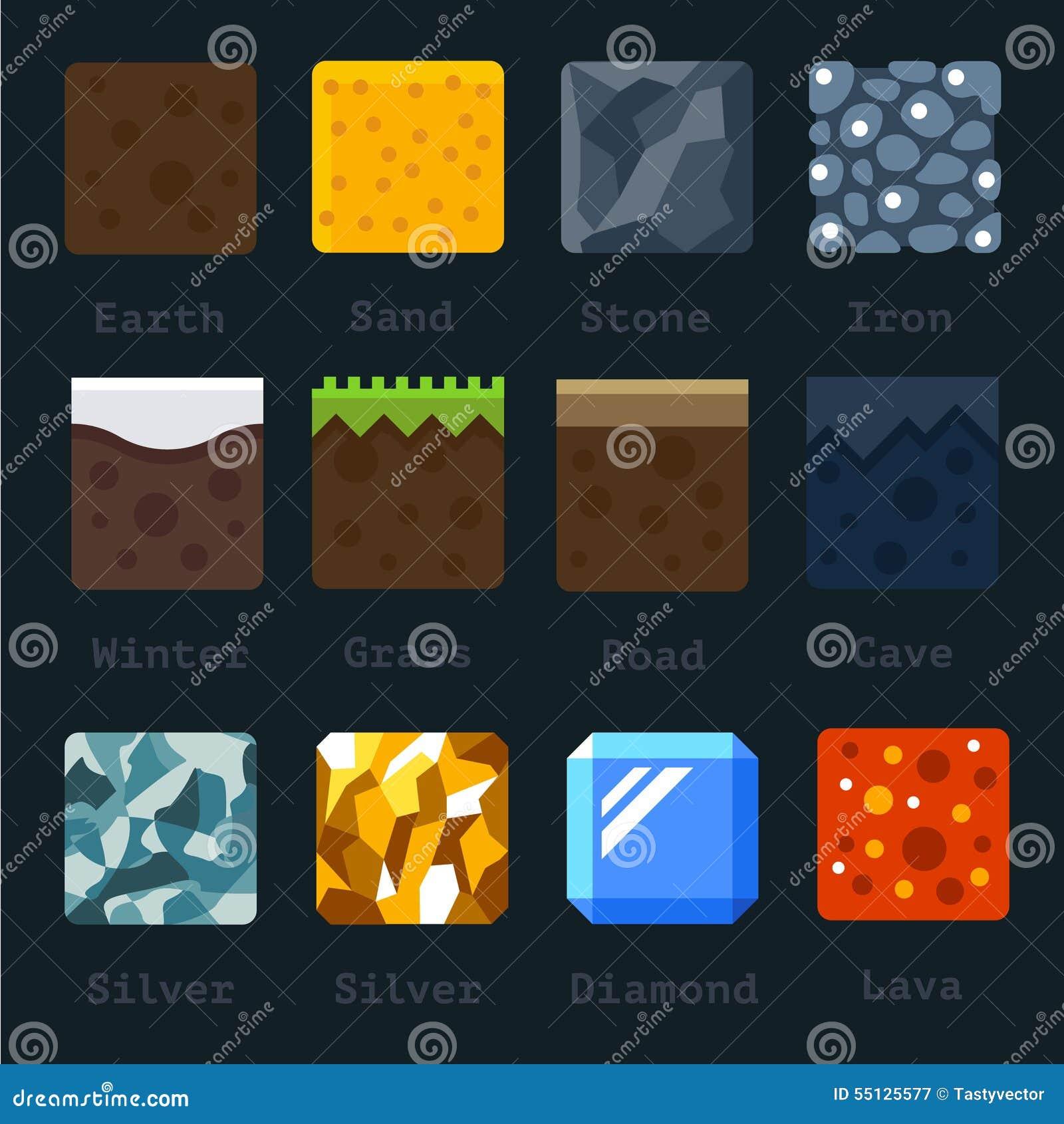 Materiais e texturas diferentes para o jogo
