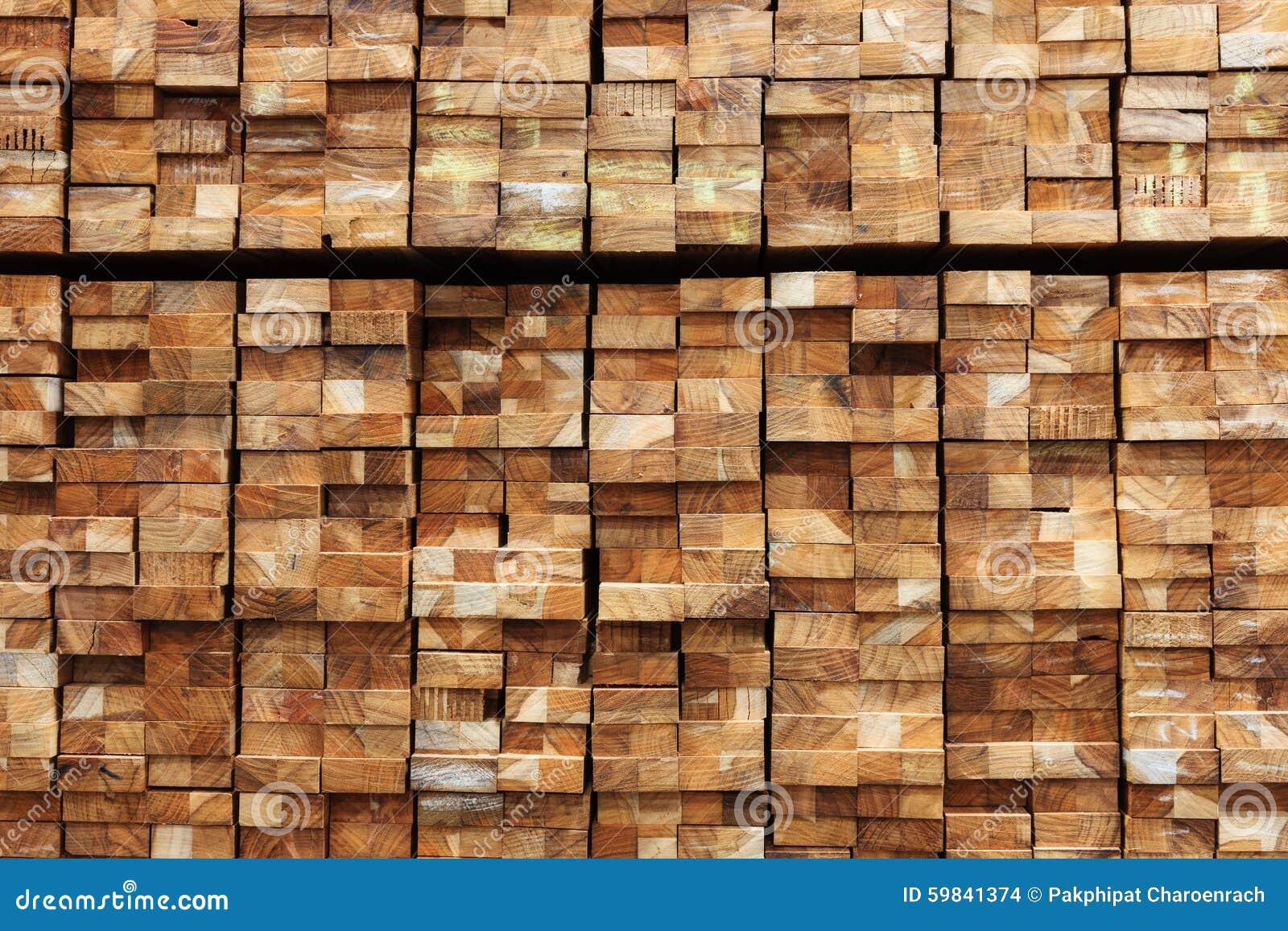 Material de construção de madeira da madeira para o fundo e a textura
