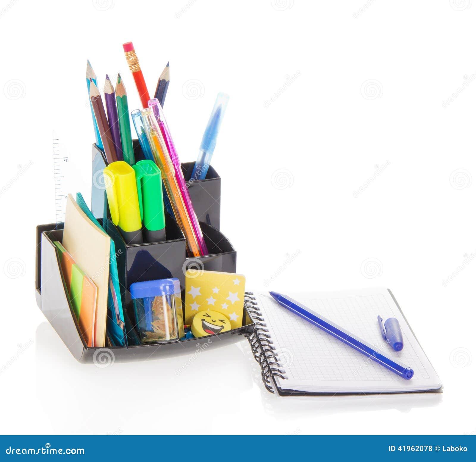 Material de oficina en ayuda y bloc de bocetos foto de for Material de oficina precios