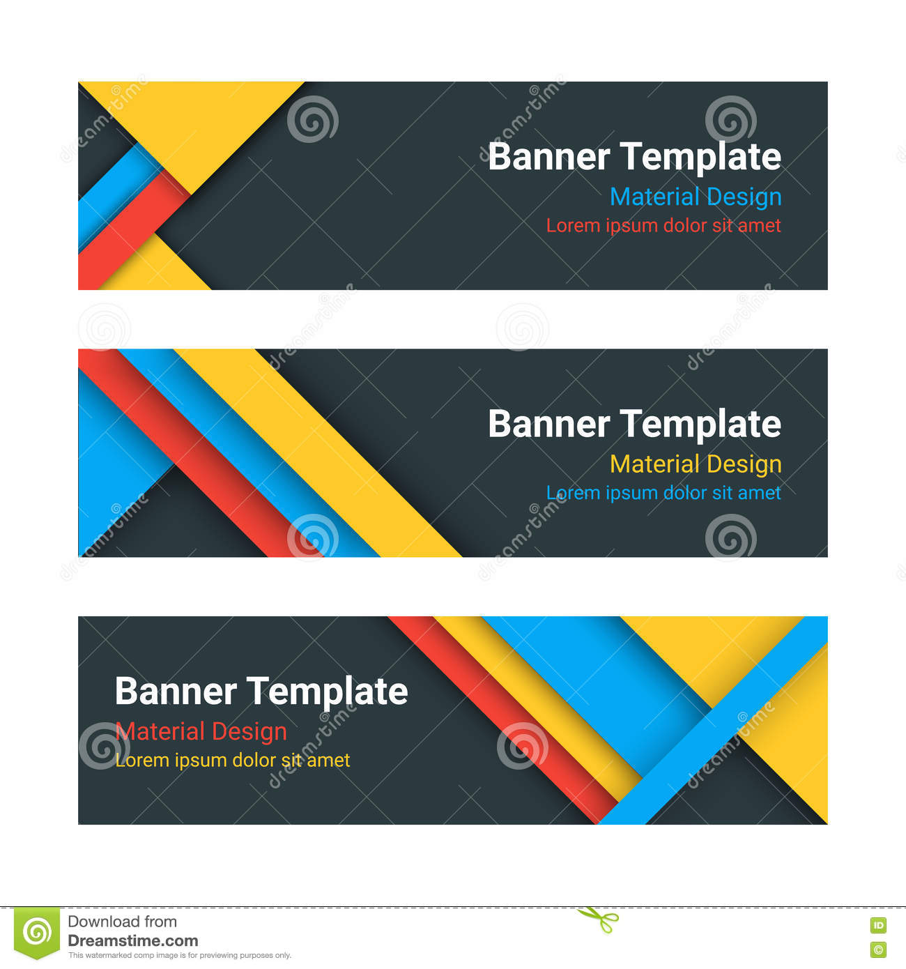 Design vector banner - Royalty Free Vector Download Material Design Web Banners