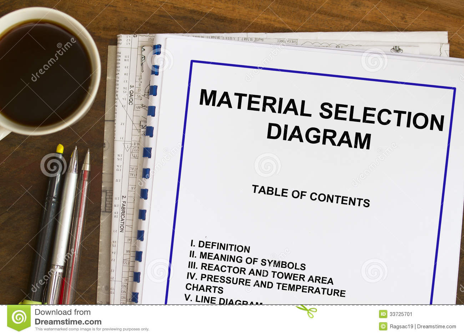 Material Selection Diagram Stock Image