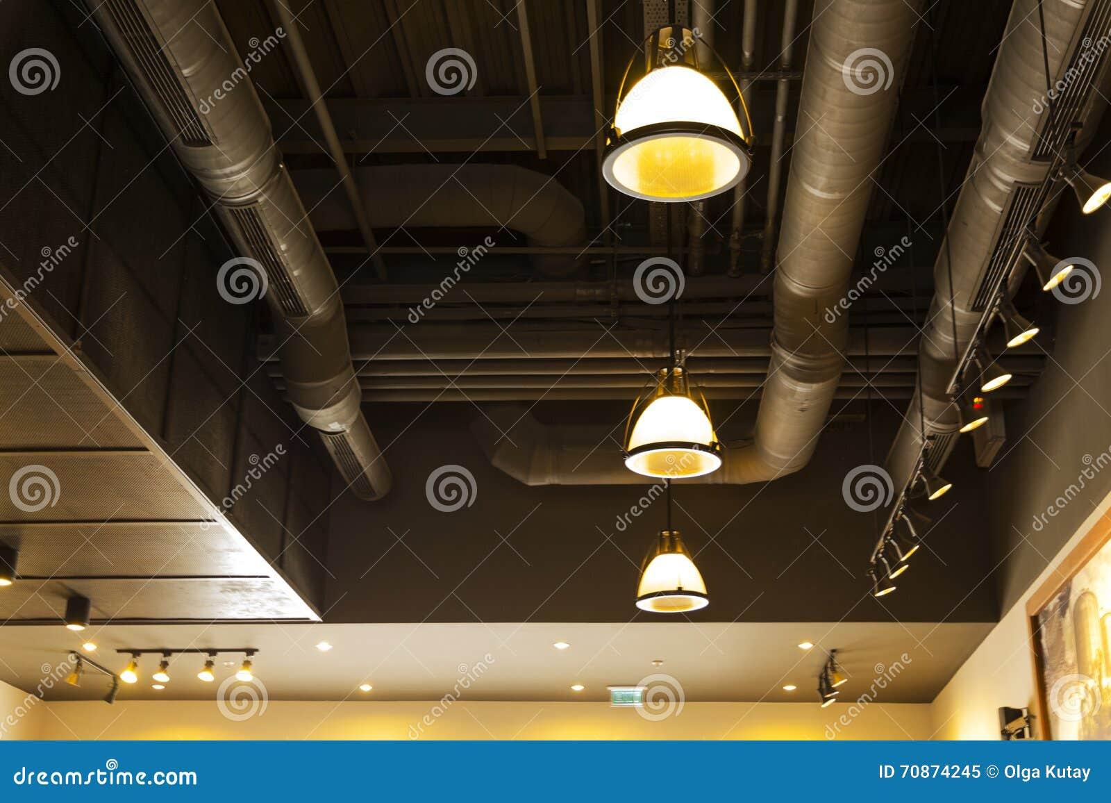Materiale di illuminazione illuminato ufficio soffitto moderno