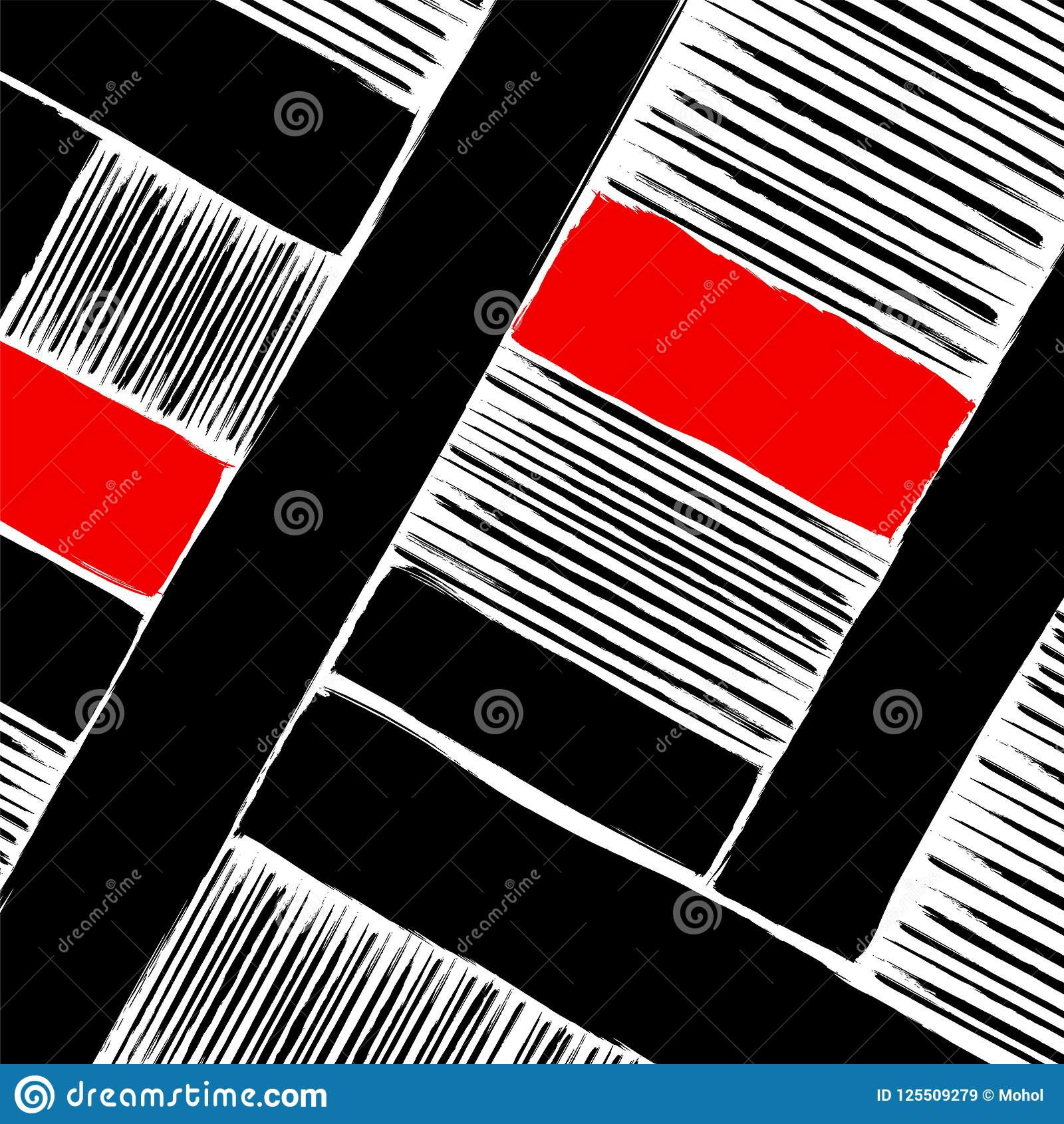 Materiale illustrativo, colpi e linee geometrici astratti