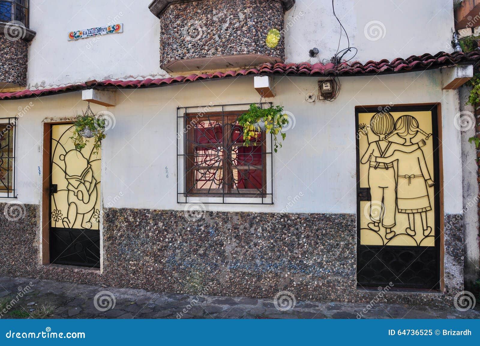 Materiale illustrativo della porta, Juayua, El Salvador