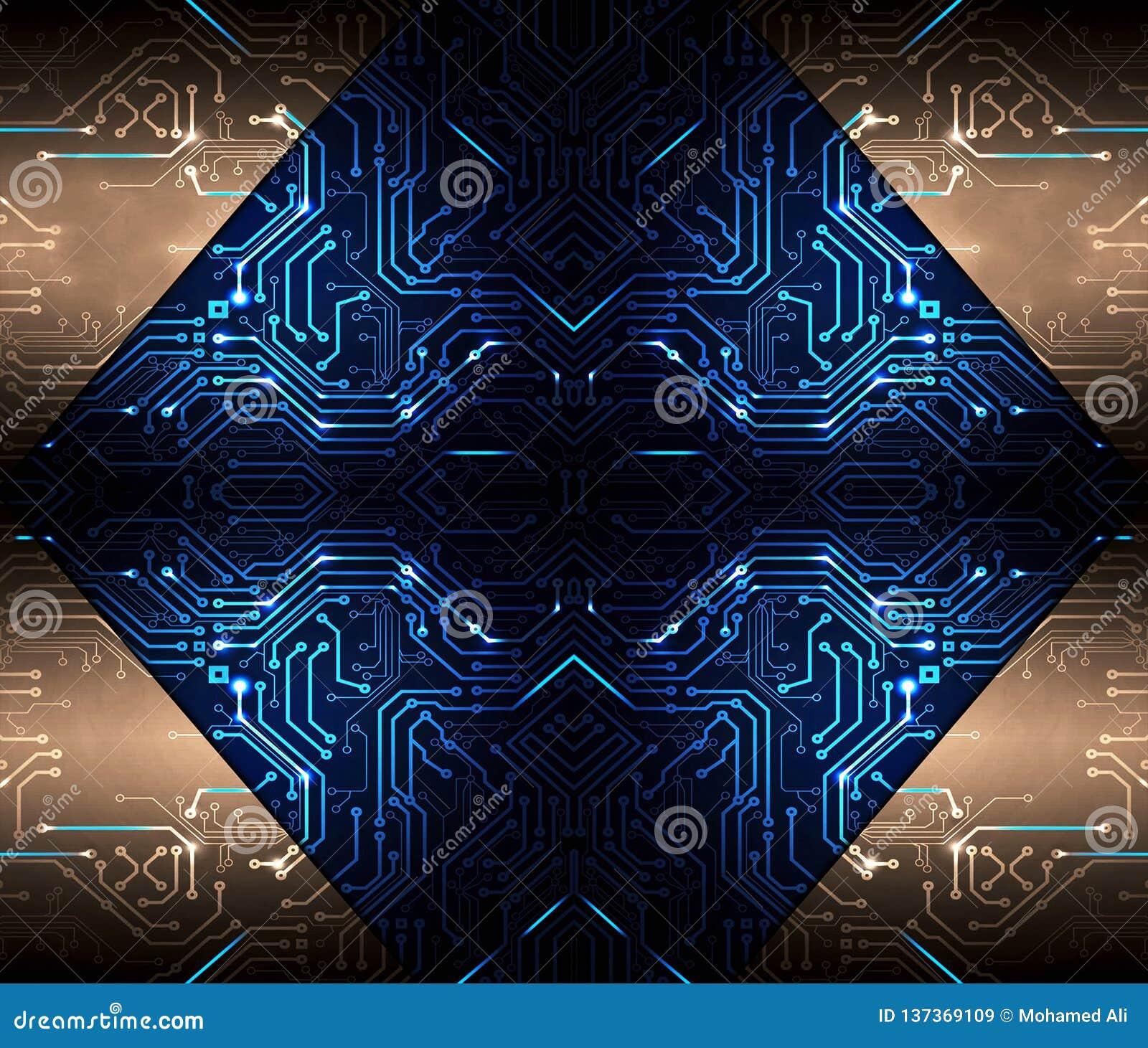 Materiale illustrativo multicolore tecnologico moderno artistico dell estratto come fondo unico