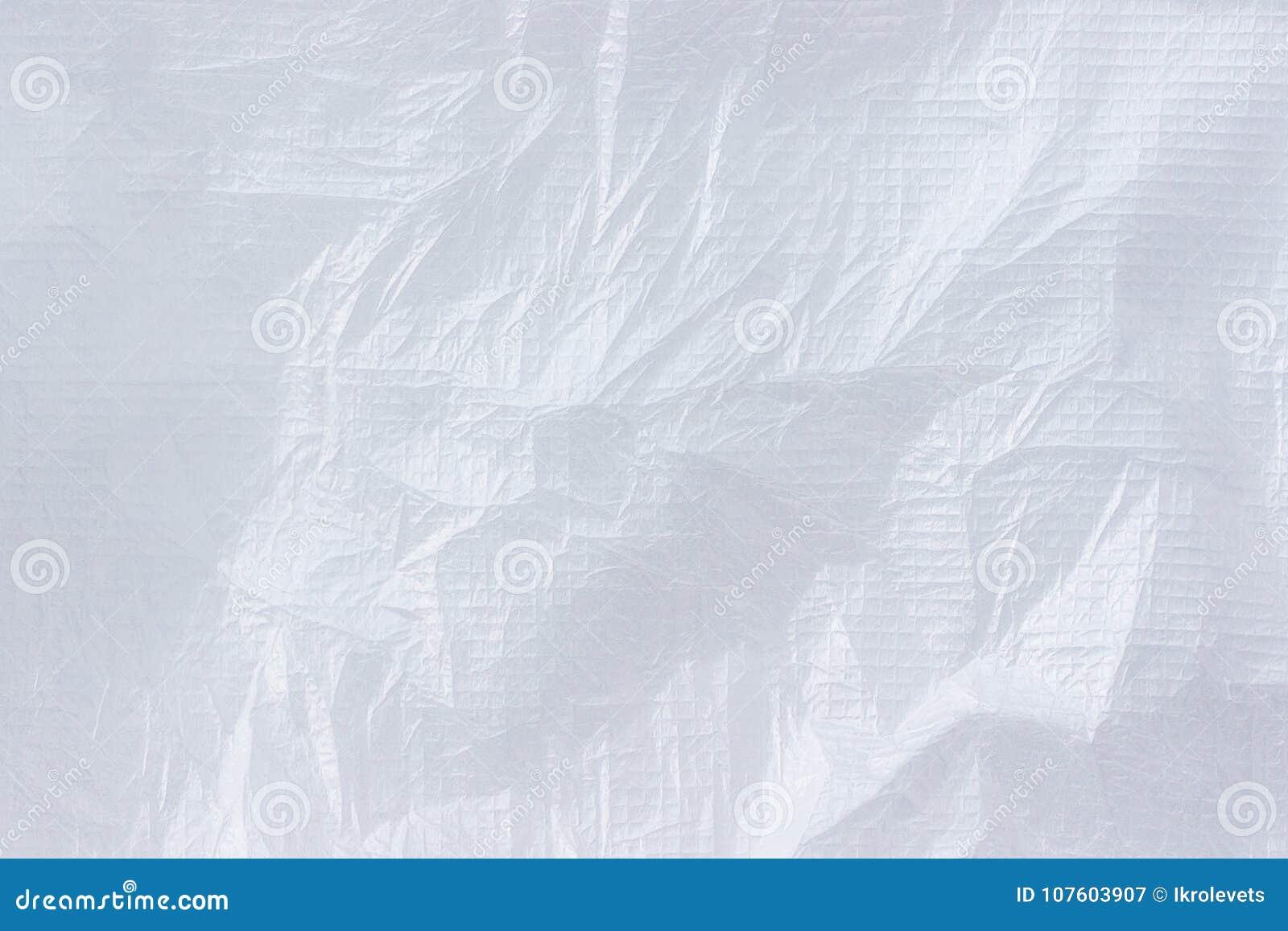 Materiale non tessuto sgualcito bianco