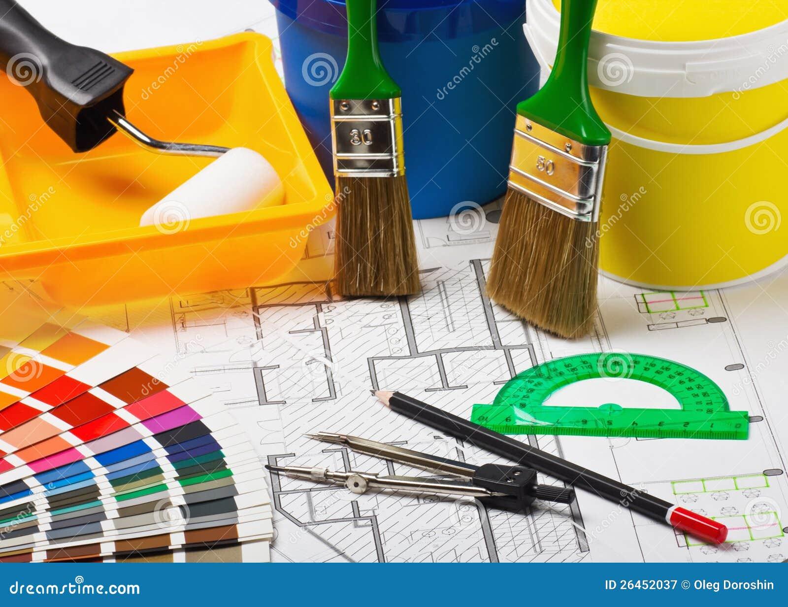 Materialen en voorraden voor reparatie royalty vrije stock fotografie afbeelding 26452037 - Kleur en materialen ...