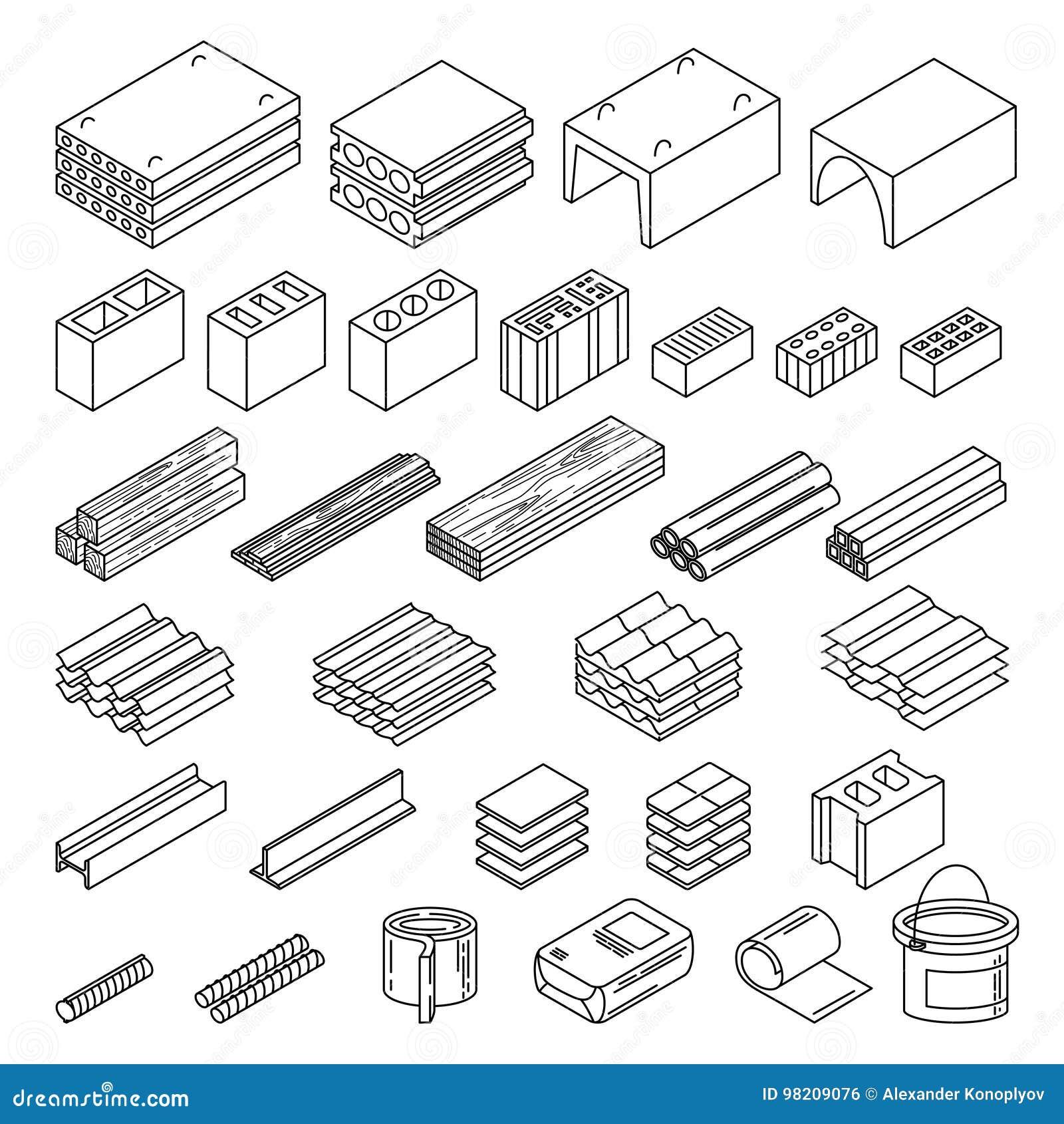 Materiales de construcción fijados