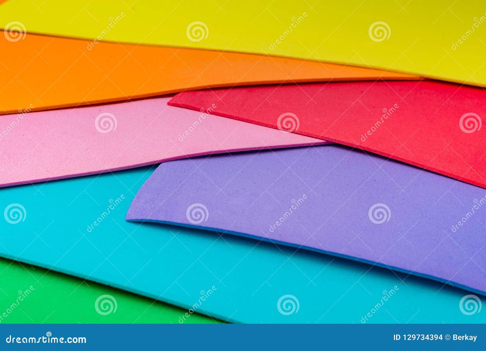 Materialnego projekta kolorowe warstwy
