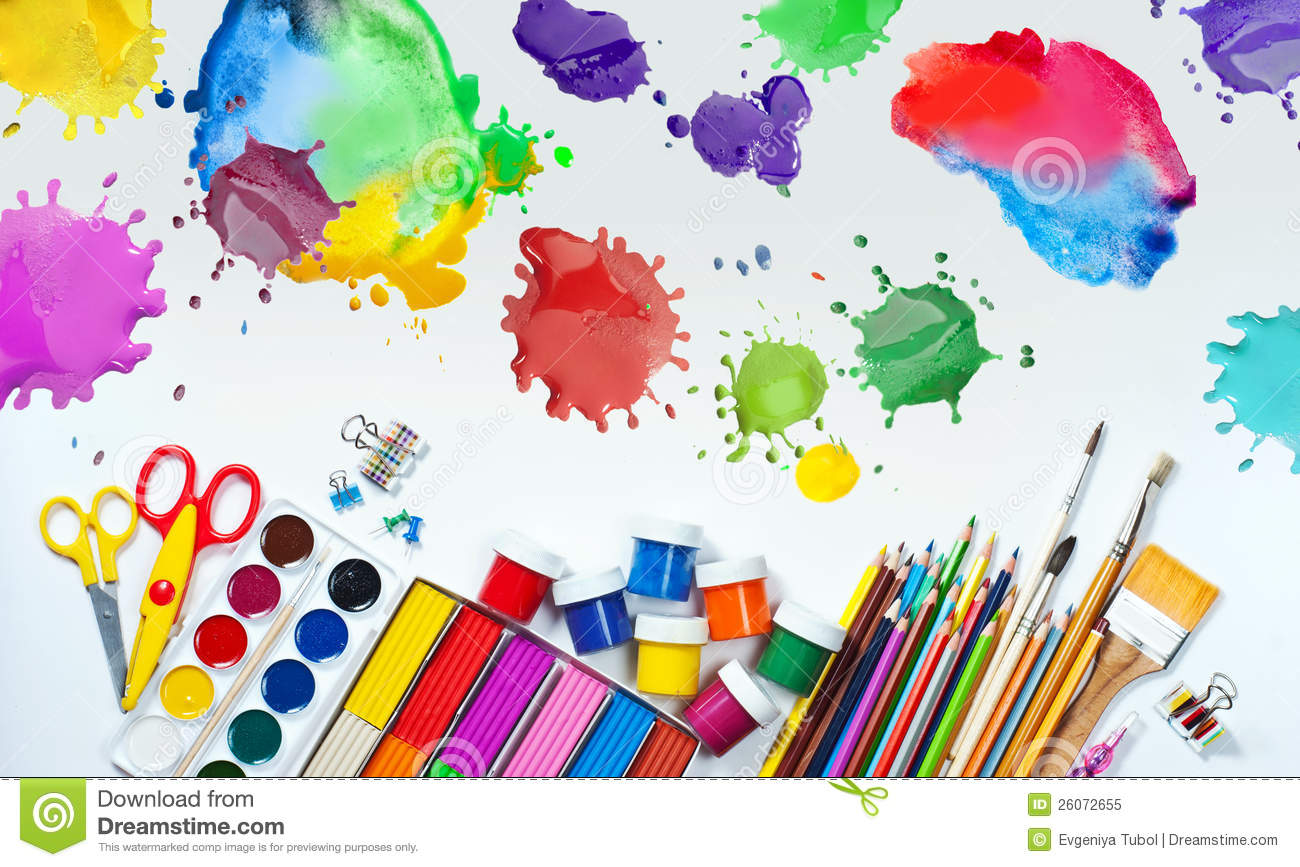 Materials for children 39 s creativity royalty free stock for Children s material