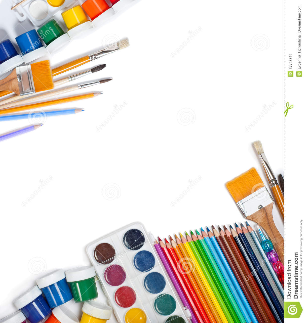 Materials for children 39 s creativity royalty free stock for Materials for kids