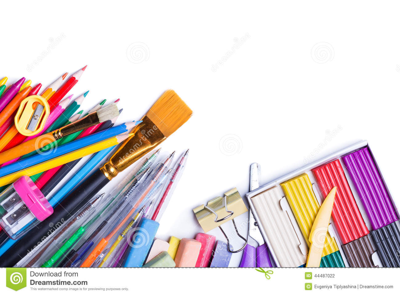 Materials for children 39 s creativity stock photo image for Childrens material