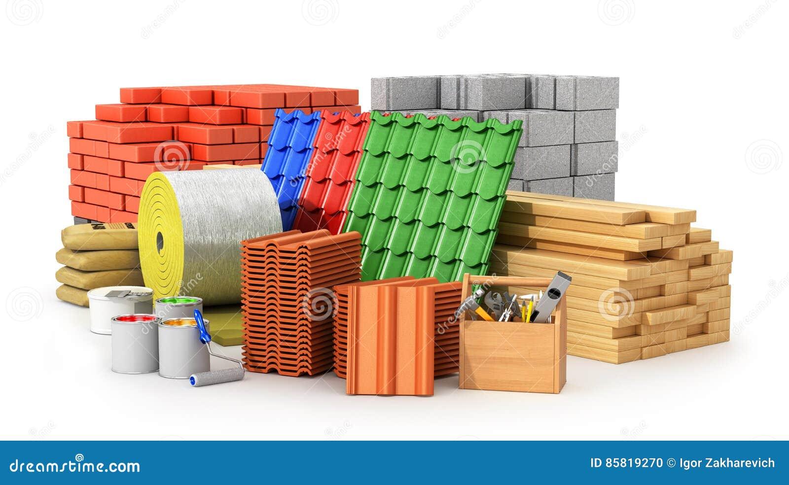 Materials cartoons illustrations vector stock images for Materiali da costruzione economici