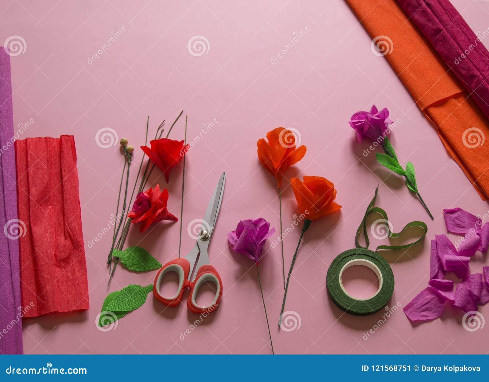 Materials to create a flower handmade paper flower crepe paper materials to create a flower handmade paper flower crepe paper mightylinksfo