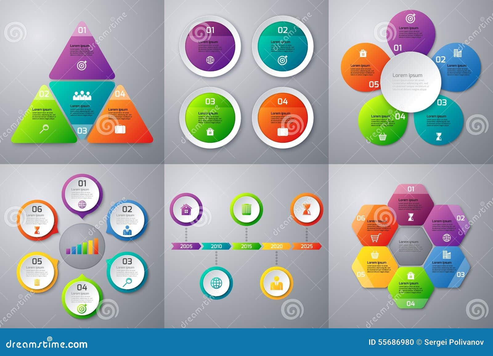 Materielvektoruppsättning av infographics